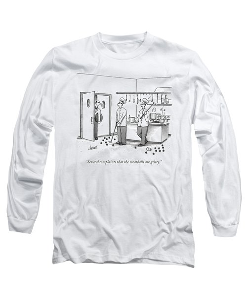 A Waiter Speaks To Two Chefs In A Kitchen Who Long Sleeve T-Shirt