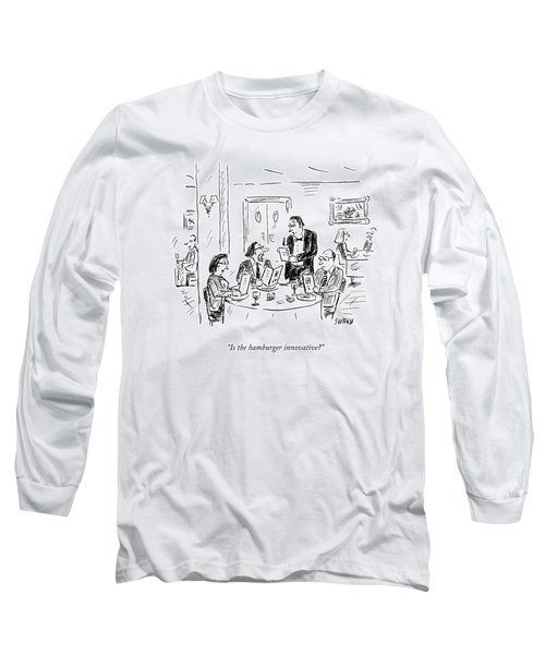 A Waiter Takes Orders At A Restaurant Long Sleeve T-Shirt
