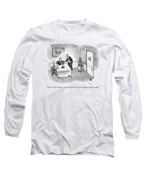 A Waiter Takes The Menu Out Of The Hands Long Sleeve T-Shirt