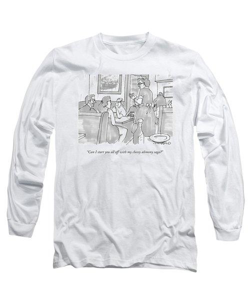 A Waitress Takes A Table's Order Long Sleeve T-Shirt