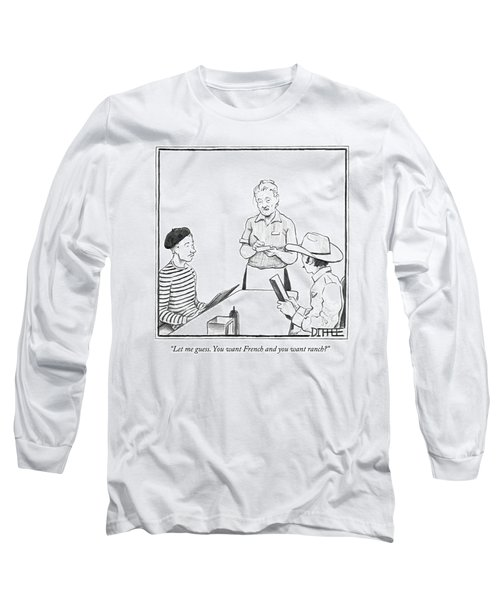 A Waitress Takes The Orders Of Two Men Long Sleeve T-Shirt