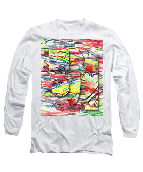 Long Sleeve T-Shirt featuring the drawing A Walk In The Park  by Peter Piatt