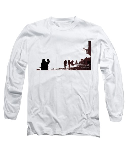 Long Sleeve T-Shirt featuring the photograph A Walk On The Beach by Gary Smith
