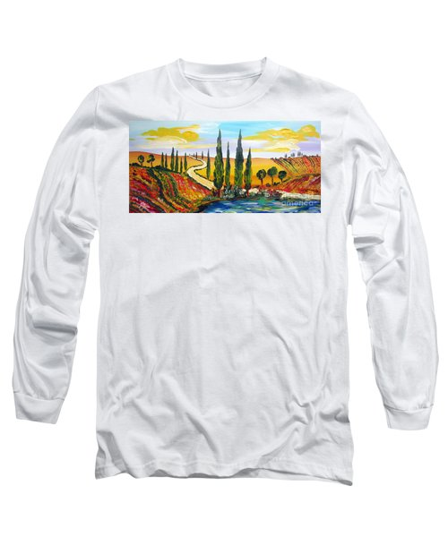 A Warm Day Under The Tuscan Sun Long Sleeve T-Shirt