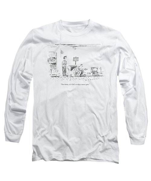 A Wife Addresses Her Crazed-looking Husband Long Sleeve T-Shirt