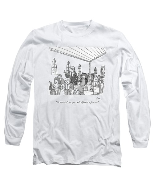 A Wife Scolds Her Husband At A Church Long Sleeve T-Shirt