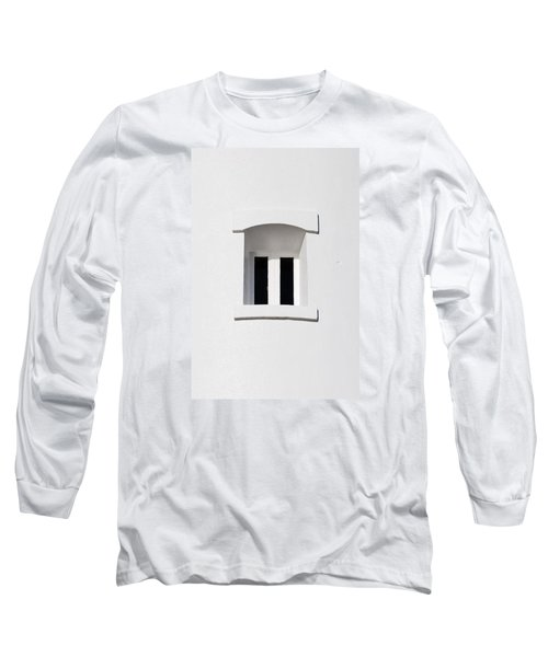 A Window In White Long Sleeve T-Shirt by Wendy Wilton