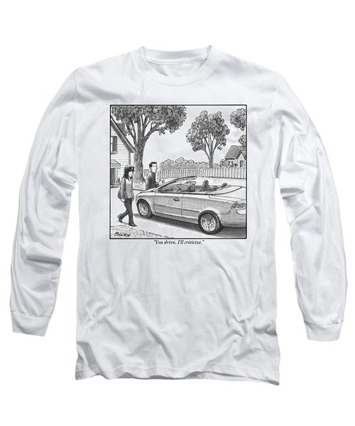 A Woman And Man Are Walking From Their House Long Sleeve T-Shirt