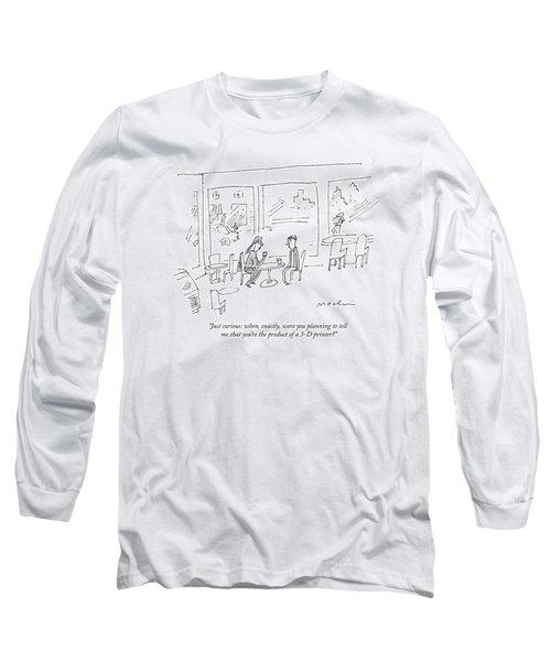 A Woman Asks A Man On A Date Long Sleeve T-Shirt