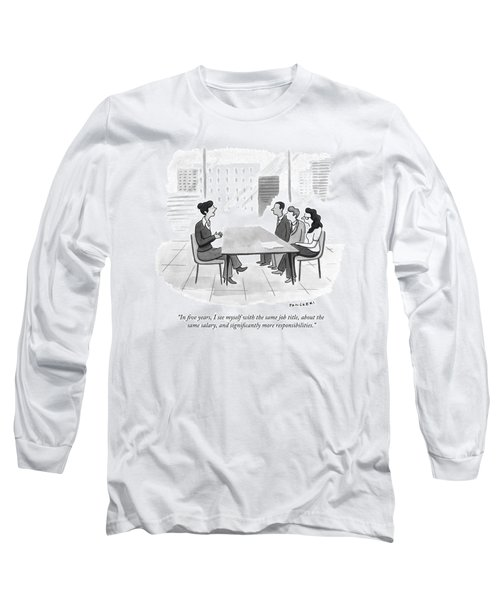 A Woman At A Job Interview Long Sleeve T-Shirt
