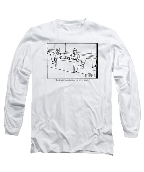 A Woman Chastising A Man At A Dinner Table Long Sleeve T-Shirt