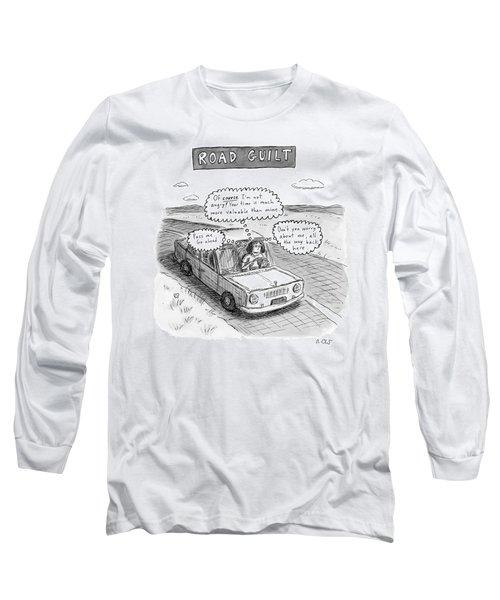 A Woman Driving Down The Road Acting Long Sleeve T-Shirt