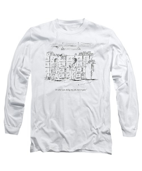 A Woman In A Room Full Of File Cabinets Speaks Long Sleeve T-Shirt