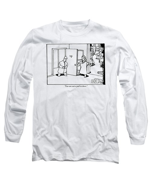 A Woman Opens The Door Of Her Apartment Long Sleeve T-Shirt