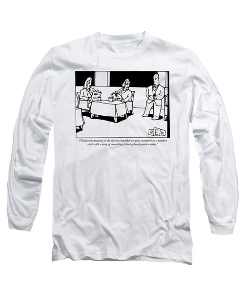 A Woman Orders At A Restaurant Long Sleeve T-Shirt