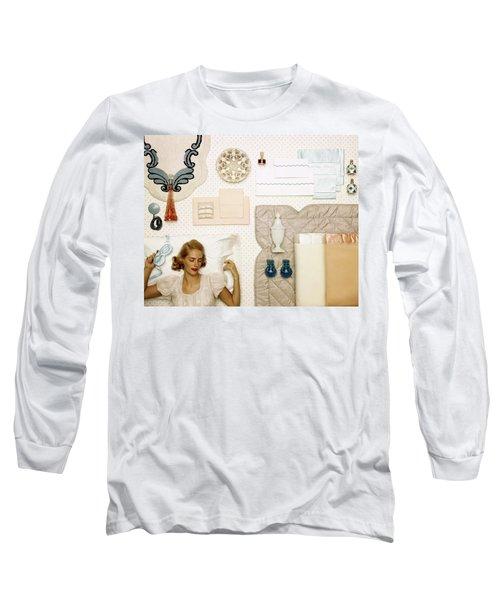 A Woman Sleeping Next To An Assorted Range Long Sleeve T-Shirt