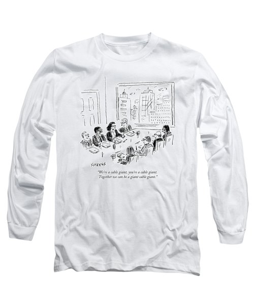 A Woman Speaks Across The Table At A Full Board Long Sleeve T-Shirt