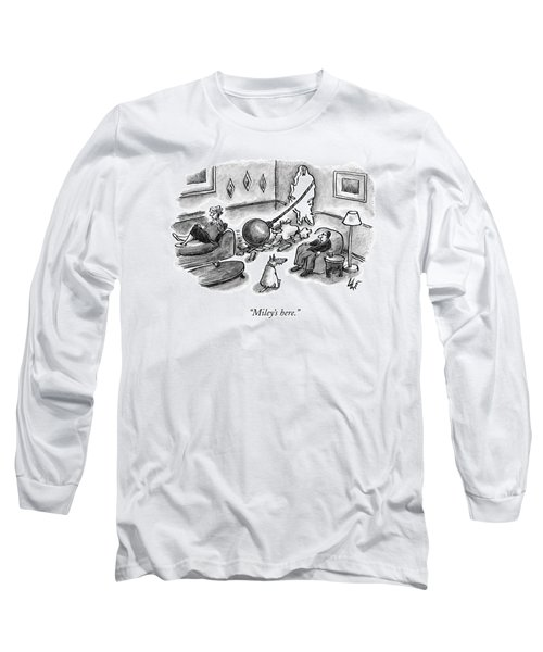 A Woman Speaks On The Phone Long Sleeve T-Shirt