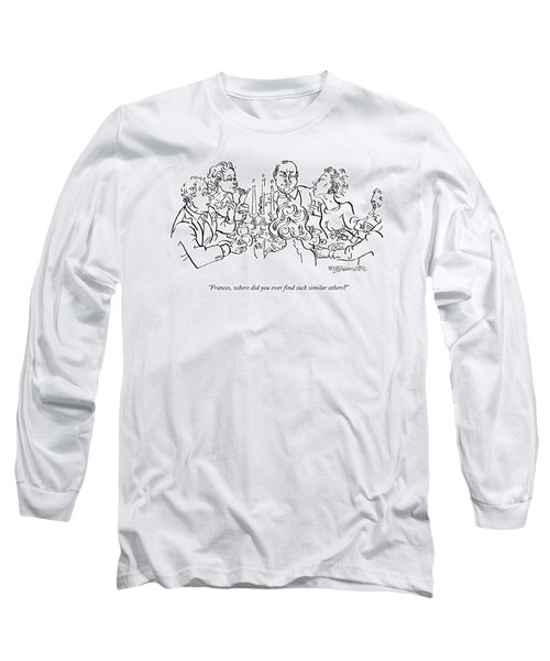 A Woman Speaks To A Table Of Five Other People Long Sleeve T-Shirt