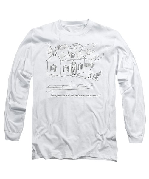A Woman Speaks To Her Husband From The Doorway Long Sleeve T-Shirt