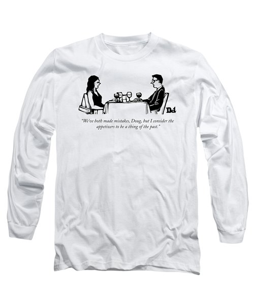 A Woman Talks To A Man While They Are Eating Long Sleeve T-Shirt