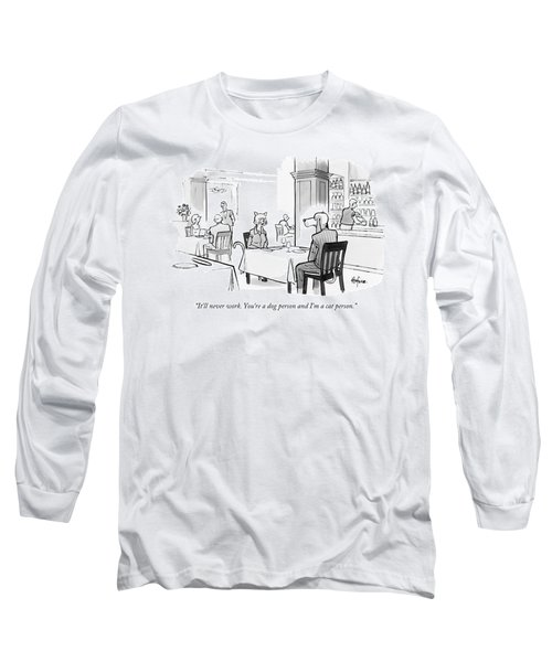 Dog Person And Cat Person Long Sleeve T-Shirt