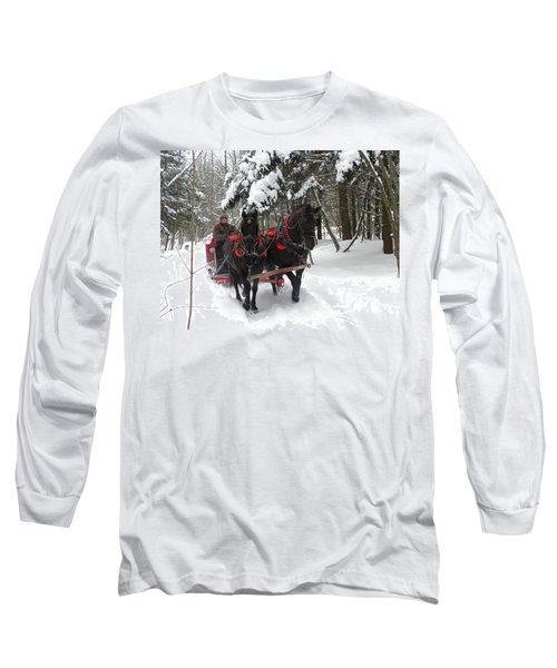 A Wonderful Day For A Sleigh Ride Long Sleeve T-Shirt
