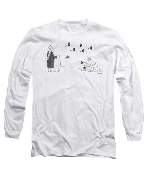 A Young Assistant To The King Paints Bullseyes Long Sleeve T-Shirt
