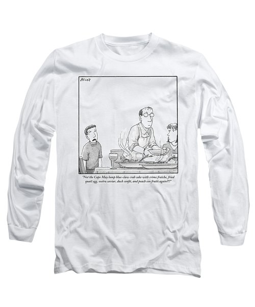 A Young Boy Complains About What's For Dinner Long Sleeve T-Shirt