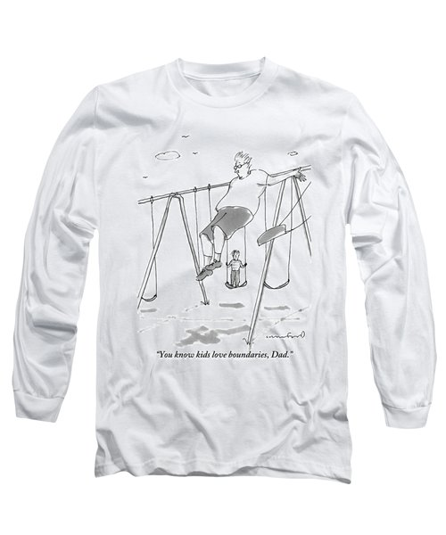 A Young Boy On A Swingset To His Father Long Sleeve T-Shirt