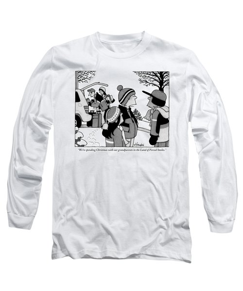 A Young Kid Speaks To His Friends As His Parents Long Sleeve T-Shirt