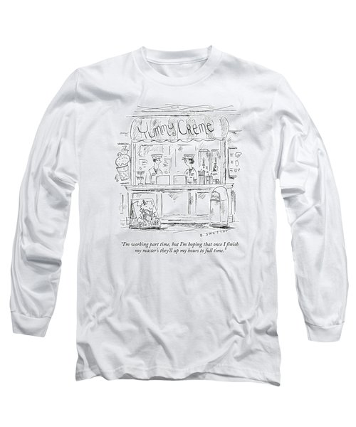 A Young Man And Woman Work Behind The Counter Long Sleeve T-Shirt