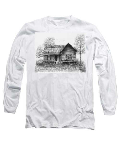 Abandoned House Long Sleeve T-Shirt by Lena Auxier