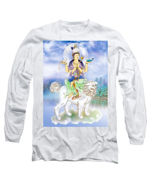 Long Sleeve T-Shirt featuring the photograph Abhetri Kuan Yin  by Lanjee Chee