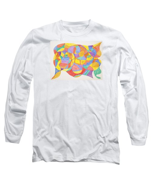 Long Sleeve T-Shirt featuring the painting Faces And Places by Stormm Bradshaw