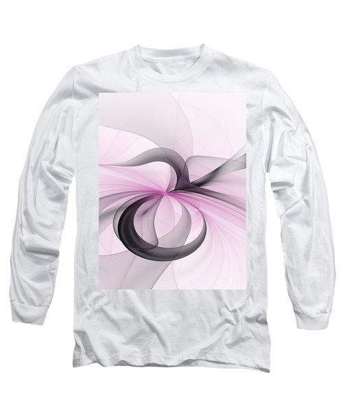 Abstract Art Fractal With Pink Long Sleeve T-Shirt