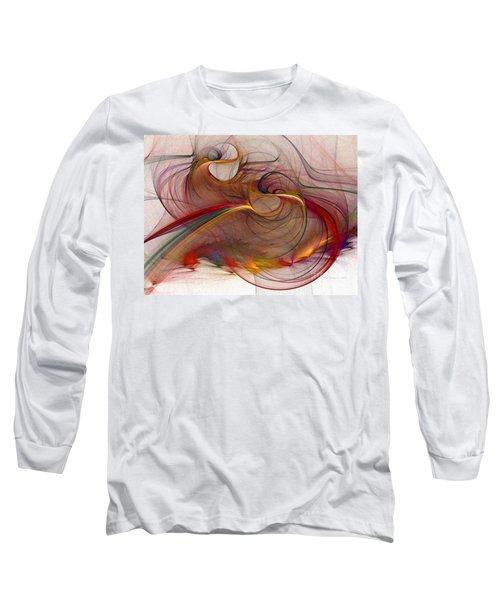 Abstract Art Print Inflammable Matter Long Sleeve T-Shirt by Karin Kuhlmann
