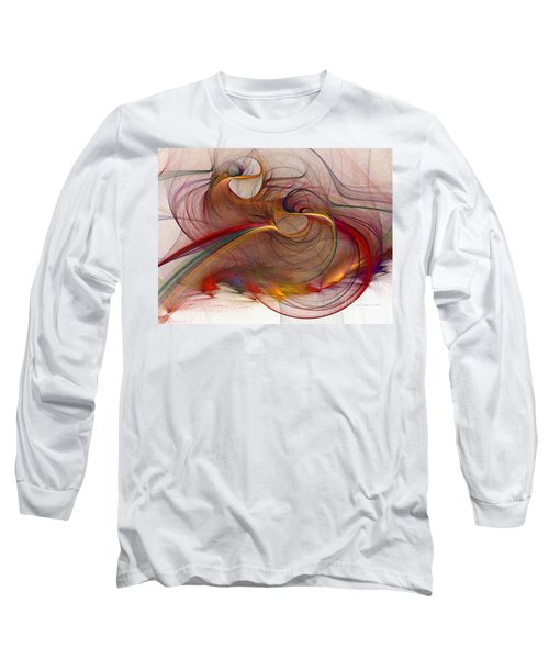 Abstract Art Print Inflammable Matter Long Sleeve T-Shirt