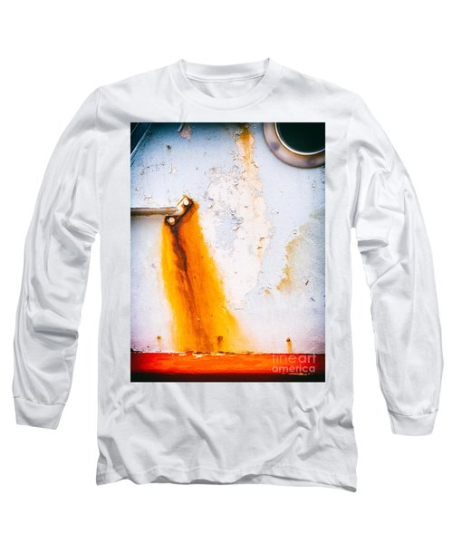 Long Sleeve T-Shirt featuring the photograph Abstract Boat Detail by Silvia Ganora