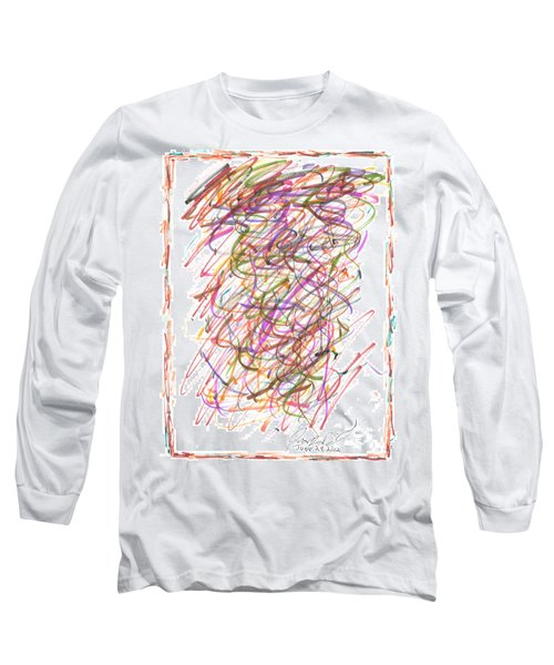 Long Sleeve T-Shirt featuring the painting Abstract Confetti Celebration by Joseph Baril