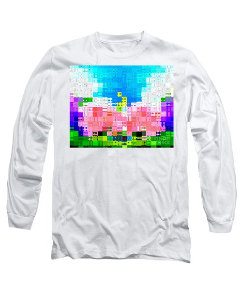 Long Sleeve T-Shirt featuring the photograph Abstract Flower Garden by Anita Lewis
