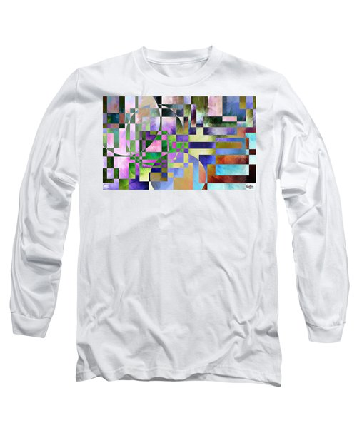 Long Sleeve T-Shirt featuring the painting Abstract In Lavender by Curtiss Shaffer