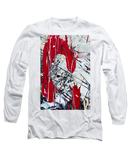 Abstract Original Painting Untitled Nine Long Sleeve T-Shirt