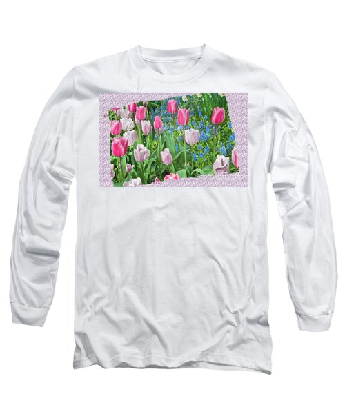 Abstract Spring Floral Fine Art Prints Long Sleeve T-Shirt