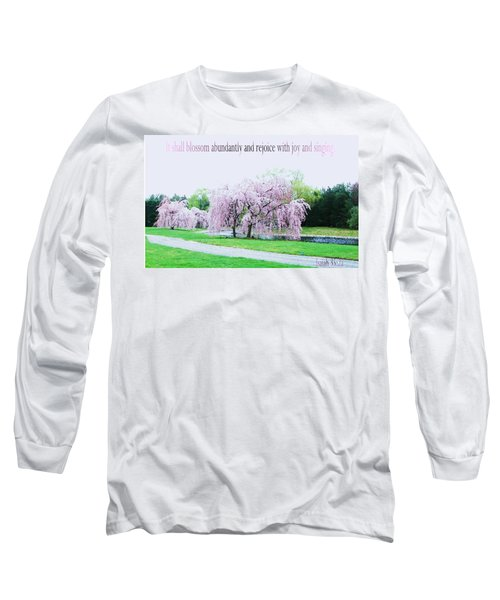 Long Sleeve T-Shirt featuring the photograph Abundant Blossom by Pamela Hyde Wilson