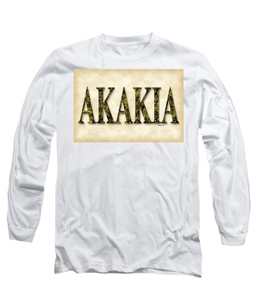 Acacia - Parchment Long Sleeve T-Shirt by Stephen Younts
