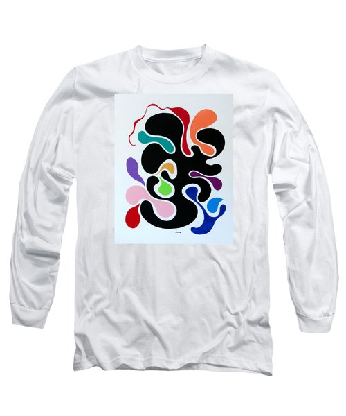 Long Sleeve T-Shirt featuring the painting Accepting by Thomas Gronowski