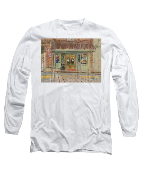 Long Sleeve T-Shirt featuring the painting Acworth Shop by Donald Maier