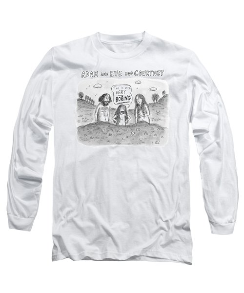 Adam And Eve And Courtney In The Garden Of Eden Long Sleeve T-Shirt