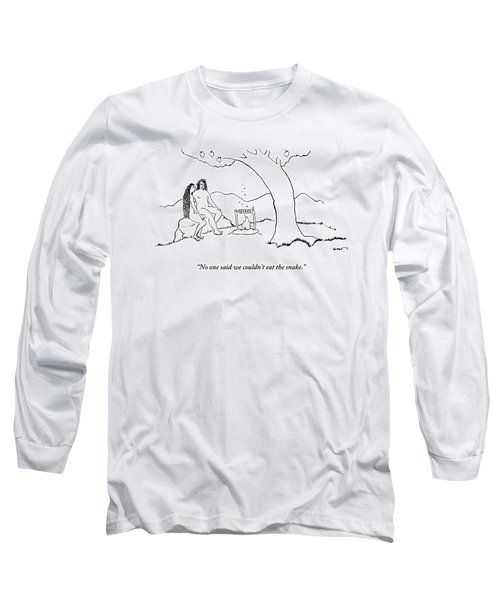 Adam And Eve Sit Under The Forbidden Tree Long Sleeve T-Shirt